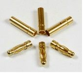 3mm Golden Plated Connector (3 pairs) AM-1001B