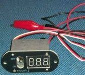 3 in 1 Excellent methanol ignition, device current switching, digital display, switch voltmeter