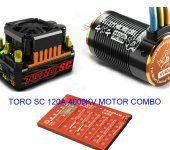 Toro SC120A 4000kv Motor Combo for 1/10 Short Course