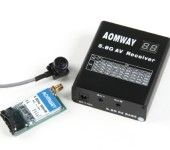 Aomway 5.8G 500mW Video Tx, RX04 Rx and 600TV lines CMOS 5V camera set (PAL)