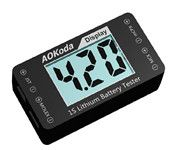 AOKoda AOK-041 1S Lithium Battery Tester Checker For JST MOLEX mCPX MCX Plug Battery