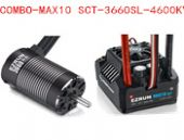 Hobbywing EZRUN MAX10 SCT 120A Brushless ESC + 3660SL G2 4600KV  Motor Set for 1/10 RC Car Truck
