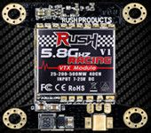 Rush VTX V1.1 5.8G 40CH 25MW 200MW 500MW Switchable Racing AV Transmitter for Flytower