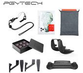 PGYTECH Filters Landing Gear Extensions Landing Pad Lens Hood Remote Controller Clasp Skin 7In1 Accessories Combo for MAVIC AIR