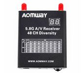 AOMWAY 5.8G 48CH Race Band Diversity Receiver (VRX) W/ DVR