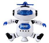 Electric Space Intelligent Robot Multicolor Shine Cool Dancing Robot Toy - White
