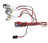 G.T.POWER L4 LED White Ultra Bright Light Wire Lamp Line for RC Car