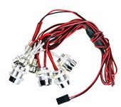 G.T.POWER L8 LED Red White Ultra Bright Light Wire Lamp Line for RC Car