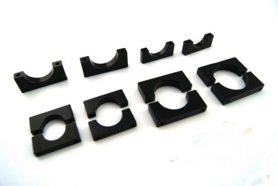 15MM Multi-rotor the CNC aluminum boom clip 10pc