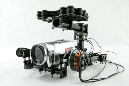 Dual axle Carbon fiber brushless-gimbal control board & motors