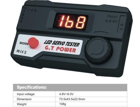 GT POWER RC Model LED Servo Tester