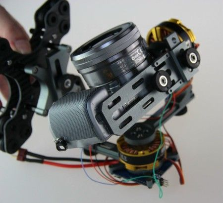 DYS Brushless Two-axis Gimbal Kit w/4108 Motor&for Sony NEX ILDC