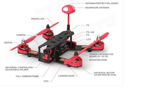 Kingkong 210GT 210MM FPV Racer Quadcopter RTF