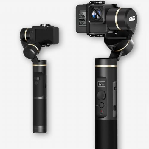 No Blocks in Visual 12Hrs Runtime Trail Time-Lapse Photography OLED Screen Feiyu G6 3-Axis Handheld Splashproof Gimbal for Gopro Hero 6 5 Sony RX0 Upgraded Algorithm WIFI Bluetooth Connection